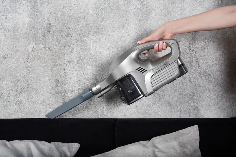 лучший вертикальный пылесос Wollmer D705 Silver