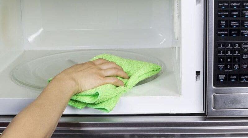 как помыть микроволновку