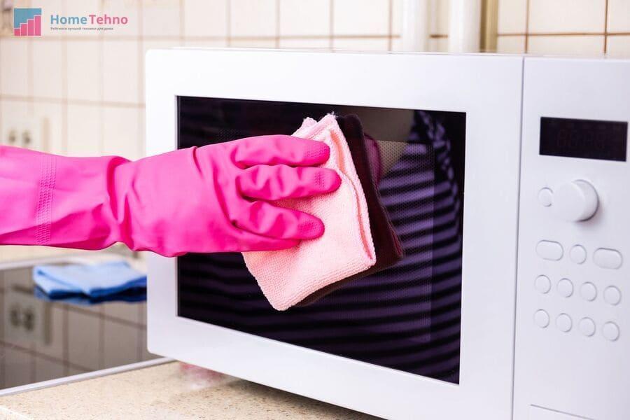 как помыть микроволновку перекисью водорода