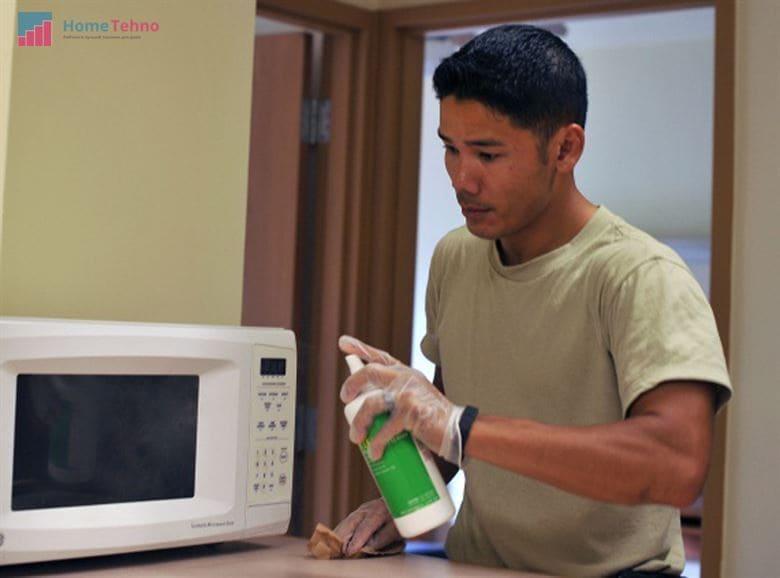как помыть микроволновку средством для мытья посуды