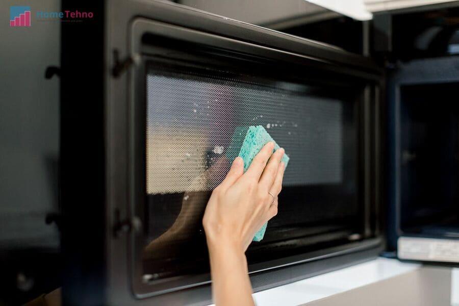 как помыть микроволновку стеклоомывателем