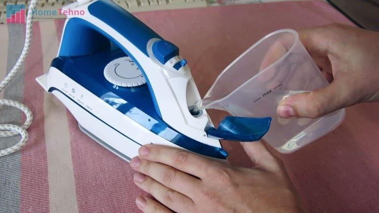 чистка утюга внутри моющими средствами