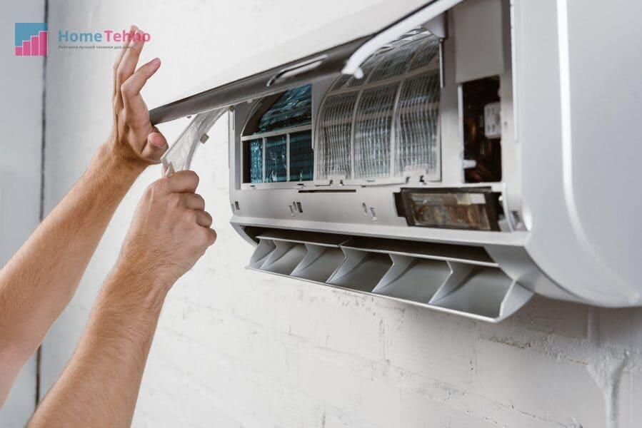 как почистить внутренний блок кондиционера