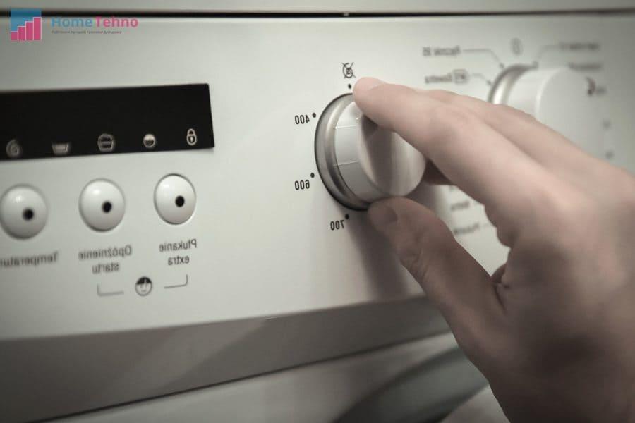 установка нужного режима на стиральной машиной