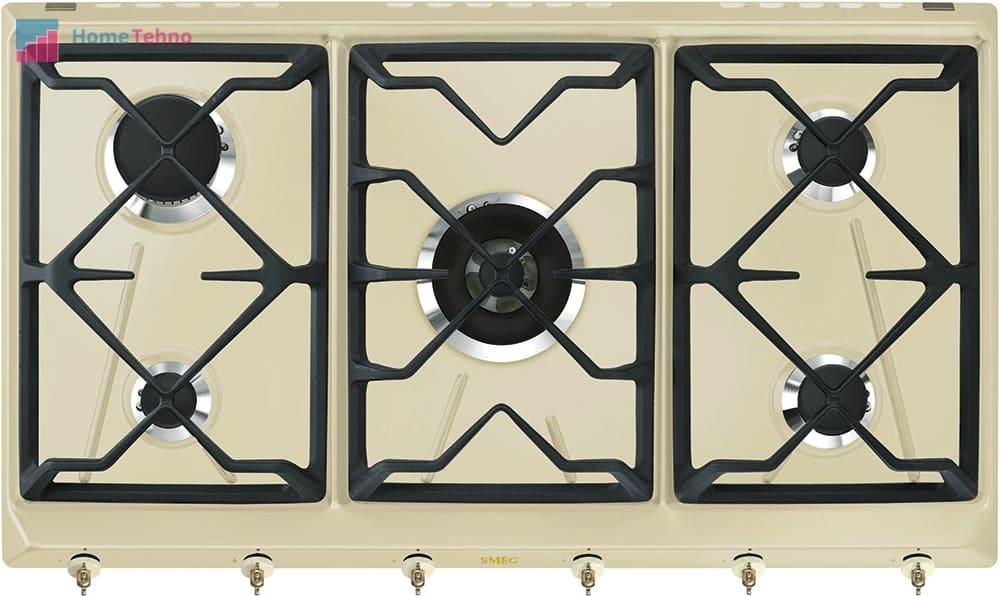 лучшая газовая варочная панель Smeg SRV896POGH