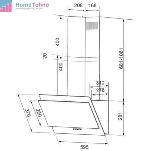 Вытяжка Shindo VELA sensor 60