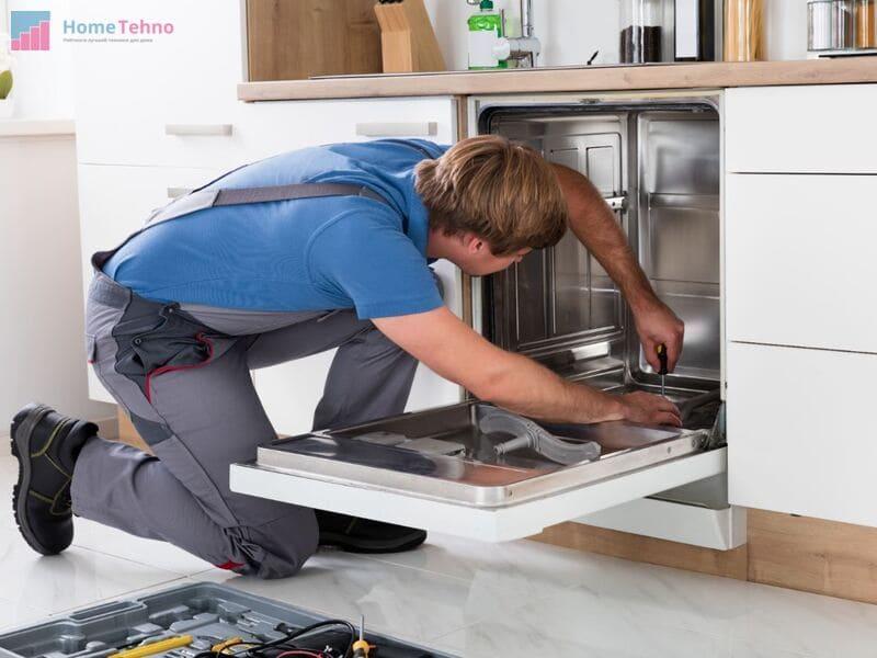 какие габариты должны быть под посудомойку