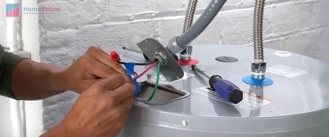 установка накопительного нагревателя