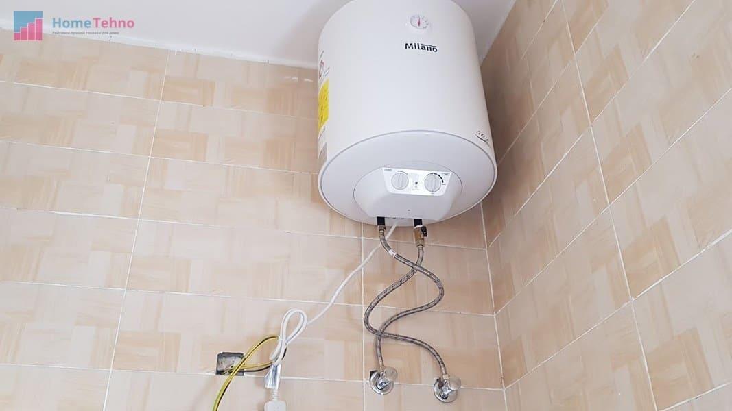 установка водонагревателя в ванне