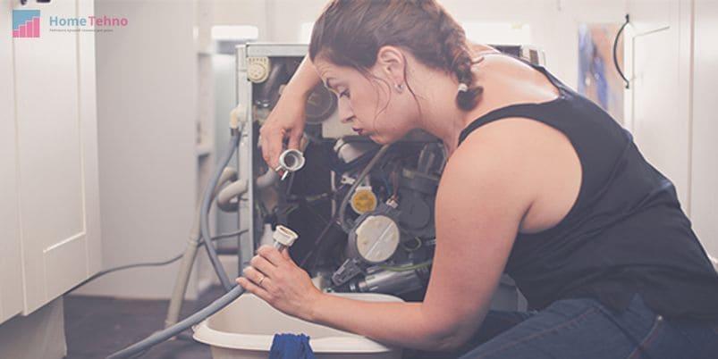 как починить слив в стиральной машине