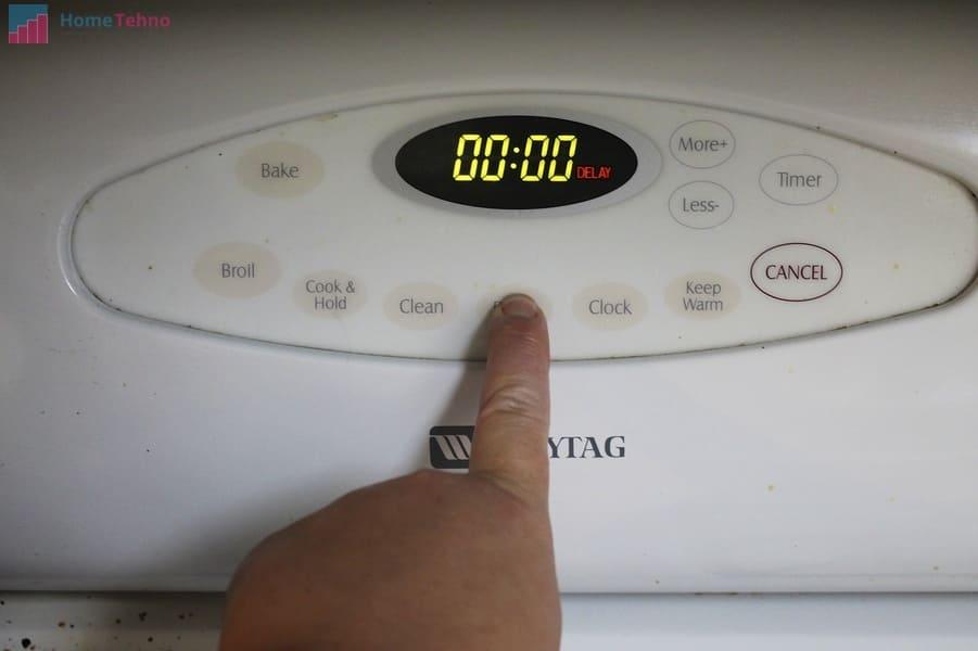 настраиваем время в духовке