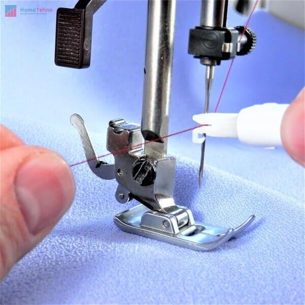 установка иглы в швейную машину
