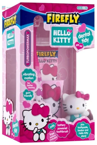 лучшая электрическая зубная щетка Firefly Hello Kitty Turbo Power Max