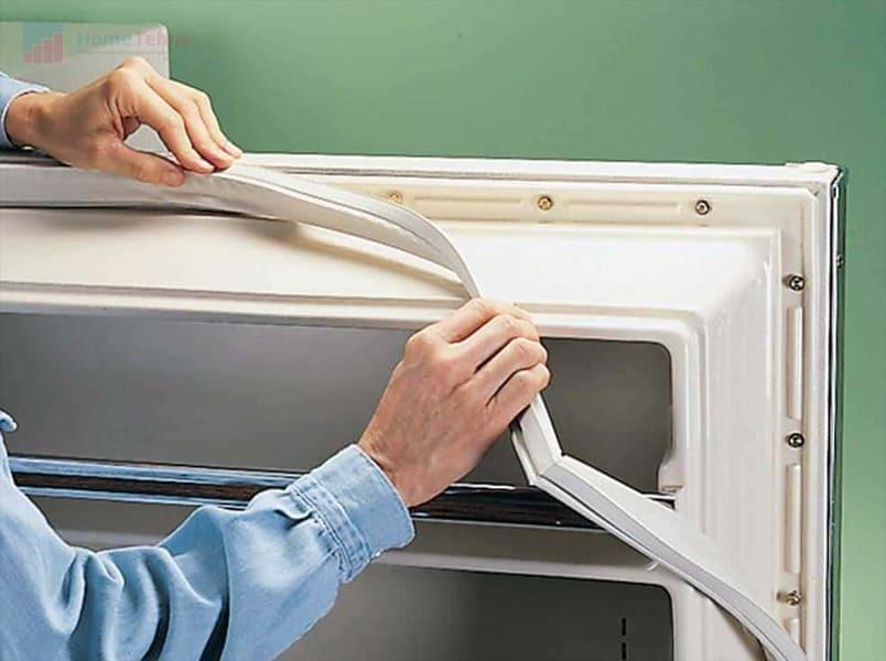 как правильно прикрепить уплотнитель в холодильнике
