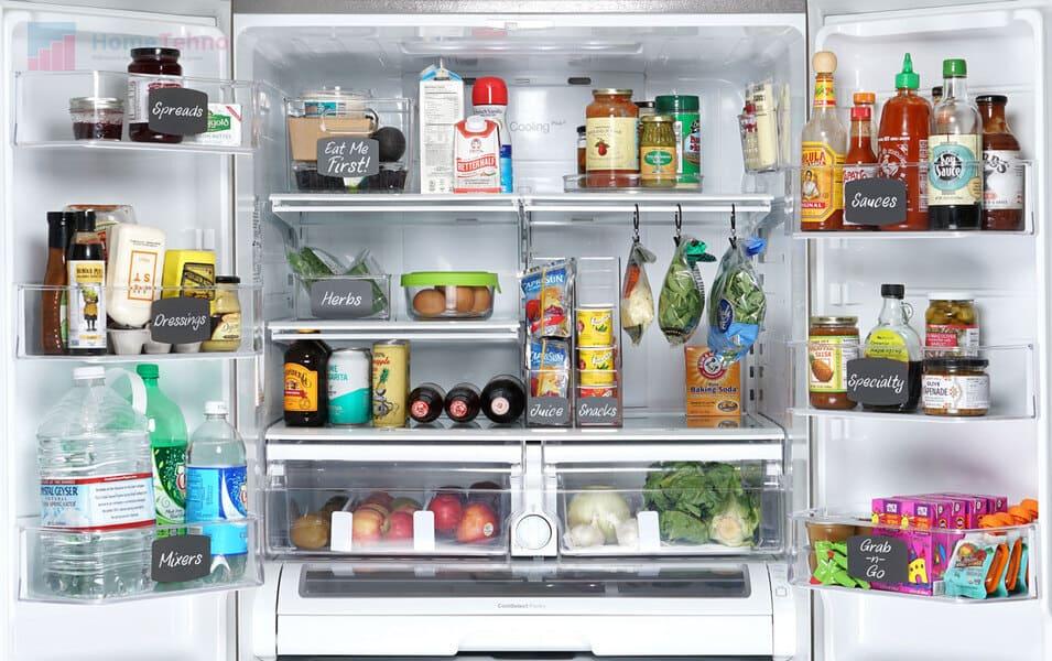 как распределить полки в холодильнике