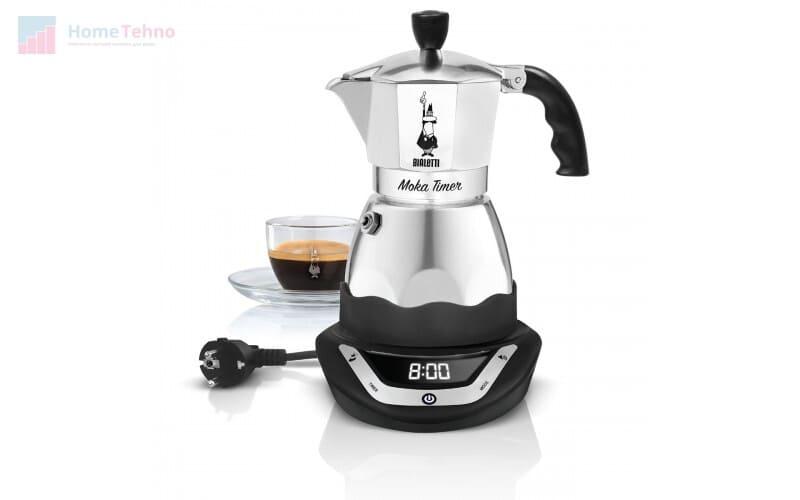 лучшая гейзерная кофеварка Bialetti Moka timer 6