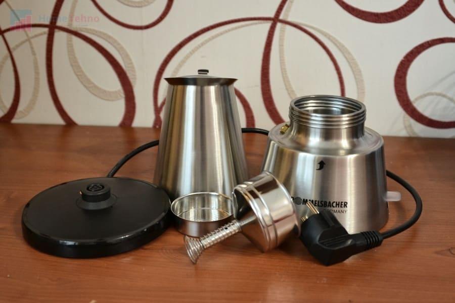 лучшая гейзерная кофеварка Rommelsbacher EKО 366-E